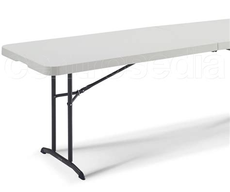 tavolo pieghevole lifetime 80175 tavolo pieghevole 244x76cm tavoli