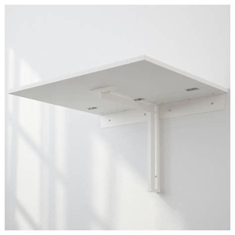 norberg wall mounted drop leaf table white 74x60 cm ikea