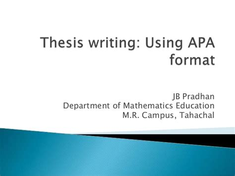 apa powerpoint template thesis writing using apa format