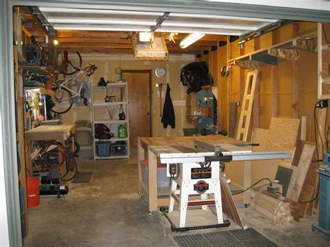 single car garage shop weekend workshop shop pinterest