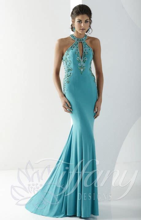 tiffany designs  shake   gown prom dress