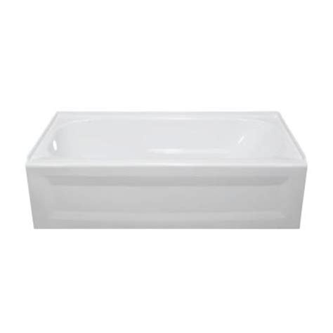 4 5 ft bathtub lyons industries elite 4 5 ft left drain soaking tub in white