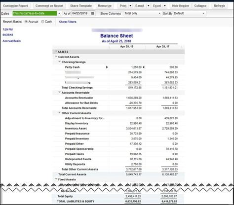 Is Your Quickbooks Desktop Balance Sheet Really Out Of Balance Insightfulaccountant Com Quickbooks Balance Sheet Template