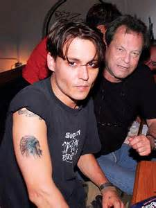 johnny depp cherokee indian tattoo johnny depp a map of his tattoos right biceps people com
