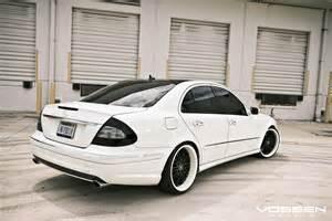 White Rims For Mercedes Mercedes E Class W211 White On Vossen Wheels Benztuning