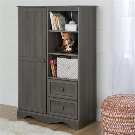 maple armoire south shore savannah gray maple armoire 10428 the home depot