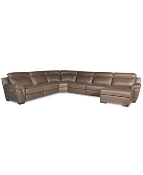 6 piece leather sectional sofa julius 6 piece leather power motion chaise sectional sofa