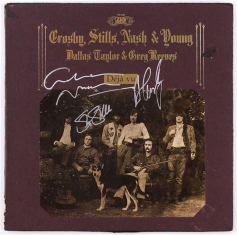 david crosby autograph david crosby graham nash stephen stills signed deja vu