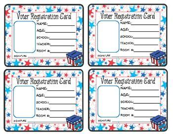 Voting Card Template by Voter Registration Card Freebie Fall