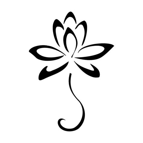 simple tattoo clip art simple drawing of lotus clipart best