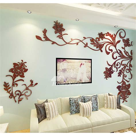 home decor sticker beautiful wall mural stickers 3d acrylic home decor living