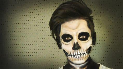 maquillaje para hombres esqueleto maquillaje de calavera skull make up halloween soy