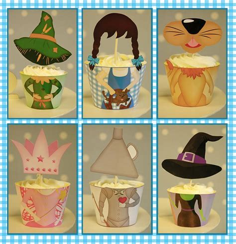 printable templates wizard of oz character cupcake wraps
