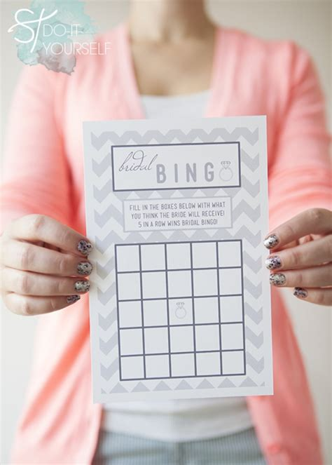 Free Bridal Shower Gift Bingo Cards - get these darling and free bridal shower bingo cards