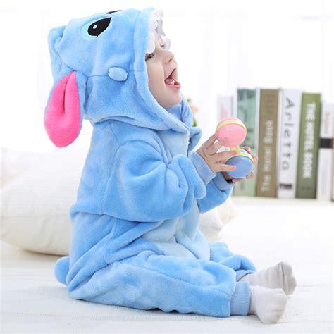Newborn baby rompers winter autumn spring baby boy clothes cartoon animal stitch shaped jumpsuit