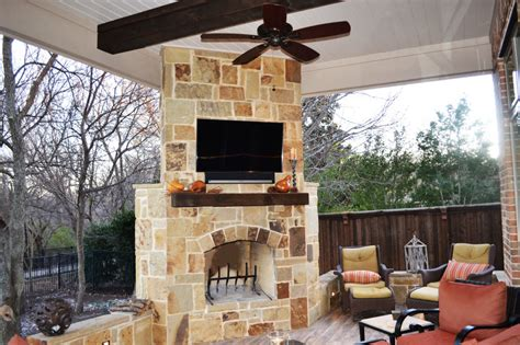 outdoor fireplace covers patio cover allen tx dfw area custom patios