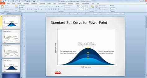 Free Standard Bell Curve Template For Powerpoint Free Powerpoint Bell Curve