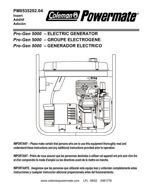 Powermate PM0535202.04 Portable Generator User Manual