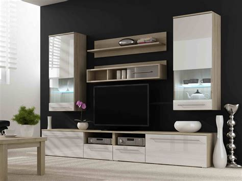 modern tv wall unit high gloss fronts entertainment center kansas 2