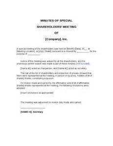minutes of shareholders meeting template minutes of shareholders meeting hashdoc