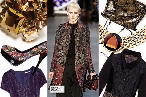 The Golden Accessories For This Fall by The Added Touch Textural Brocades And Golden Accessories