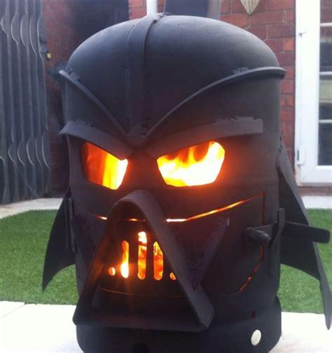 darth vader chiminea builds a cool looking darth vader log burner