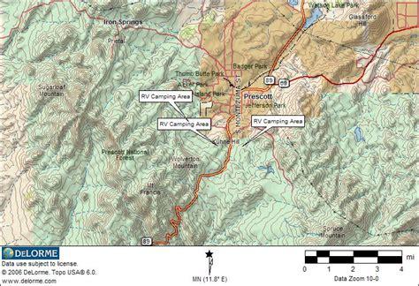 dispersed cing arizona map arizona rv cing prescott rv cing