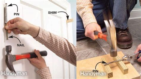 how to keep door from swinging open stop a door from swinging open by bending the hinge pin