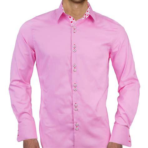 mens pink valentines day dress shirts
