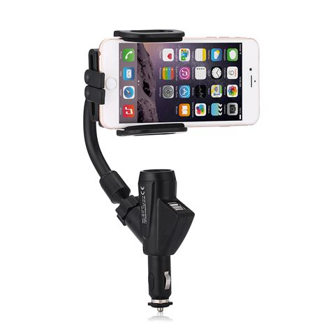 cigarette lighter socket phone holder dual usb port cigarette lighter socket car charger mount