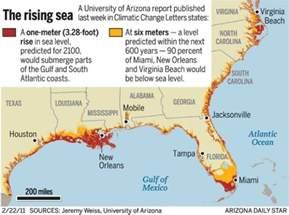 Louisiana Flood Maps ua climate research big stretch of us coast at risk of