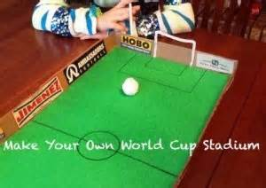 How To Make A Football Field Out Of Paper - tabletop soccer world cup craft