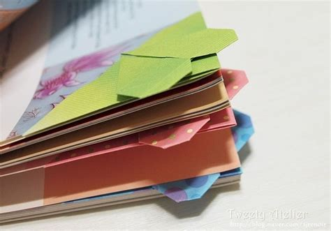 Origami Bookmark Tutorial - 1000 images about origami book and bookmark on