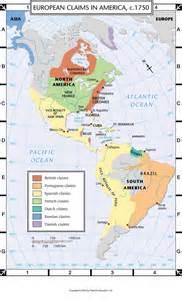 atlas map european claims in america c 1750