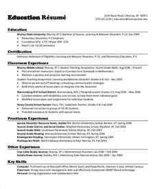 Resume Exles Elementary School by Resumes 27 Free Word Pdf Documents Free Premium Templates