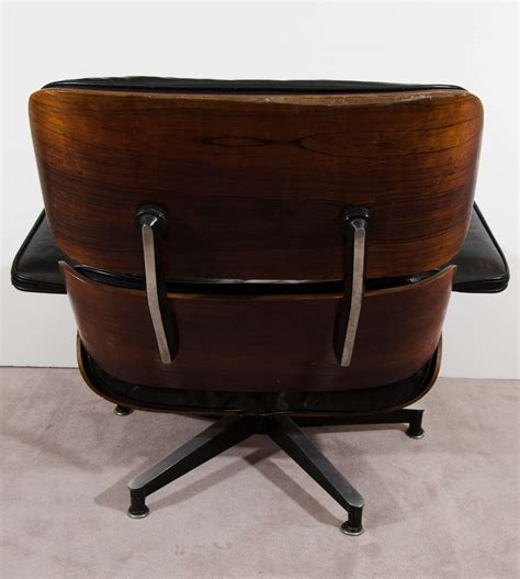eames leather chair and ottoman midcentury classic eames rosewood chair and ottoman in