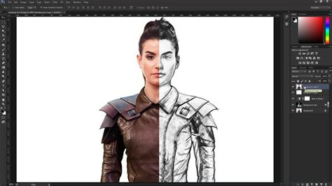 line art effect photoshop tutorial create a pencil drawing from a photo in photoshop