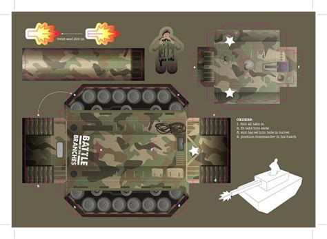 Tank Papercraft - ka boom paper tanks thecreatives paper