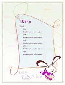 dinner menu template word menu template word