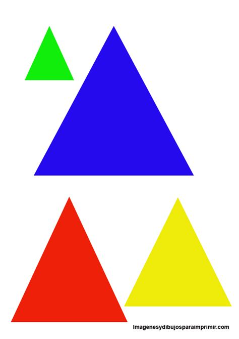 patr 243 n de colores acuarela tri 225 ngulos rojo azul verde figuras geometricas triangulo equilatero dibujos de