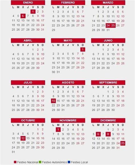 fechas de semana santa 2016 consulta el calendario laboral 2016 d 237 as laborables