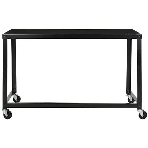 simple metal desk black west elm