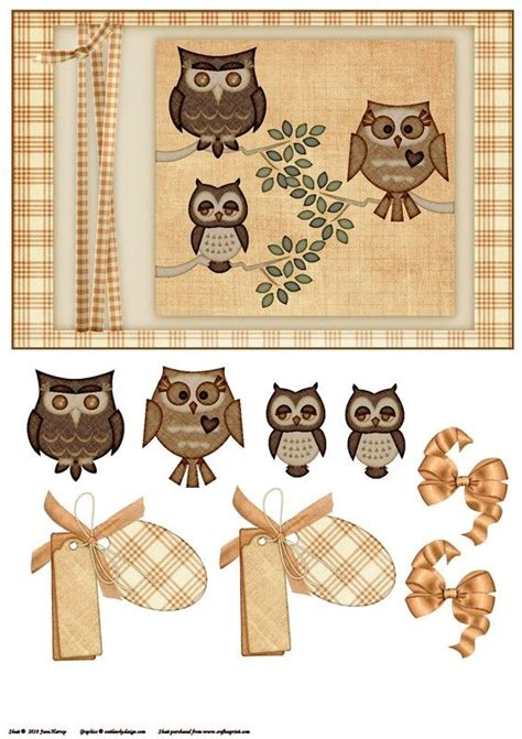 Owl Decoupage - hiboux 3d decoupage owl cards and owl card