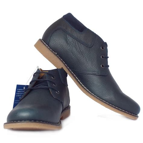 chatham marine tor s desert boots in navy leather