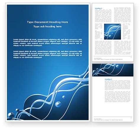 Water Theme Word Template 03137 Poweredtemplate Com Microsoft Word Themes Templates