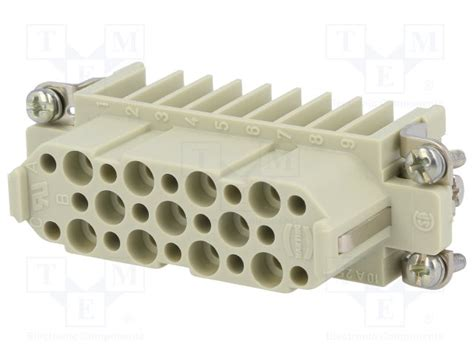 Harting Connector Han D 15pin 09210253101 harting connector han tme electronic