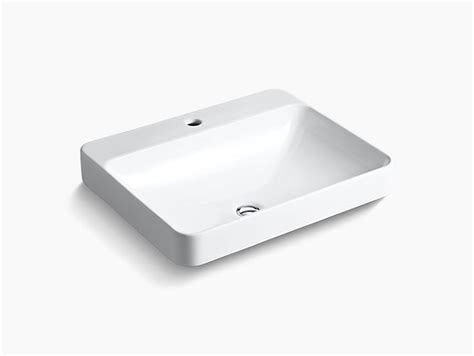 K 2660 1 Vox Rectangle Vessel Sink With Single Faucet Hole Kohler Kohler Vox Cutout Template
