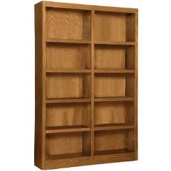 Double Bookcases A Joffe 10 Shelf Double Wide Bookcase Dry Oak Sam S Club