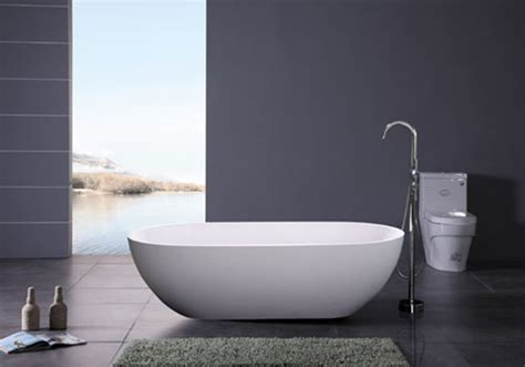 modern freestanding bathtubs accio free standing luxury solid surface modern bathtub