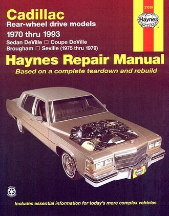 old cars and repair manuals free 1993 cadillac seville windshield wipe control sedan deville coupe brougham seville repair manual 1970 1993